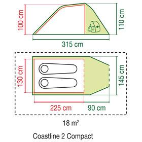 Coleman Coastline 2 Compact - Tiendas de campaña - gris